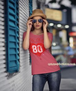 Love New York T-Shirt in pink with red print