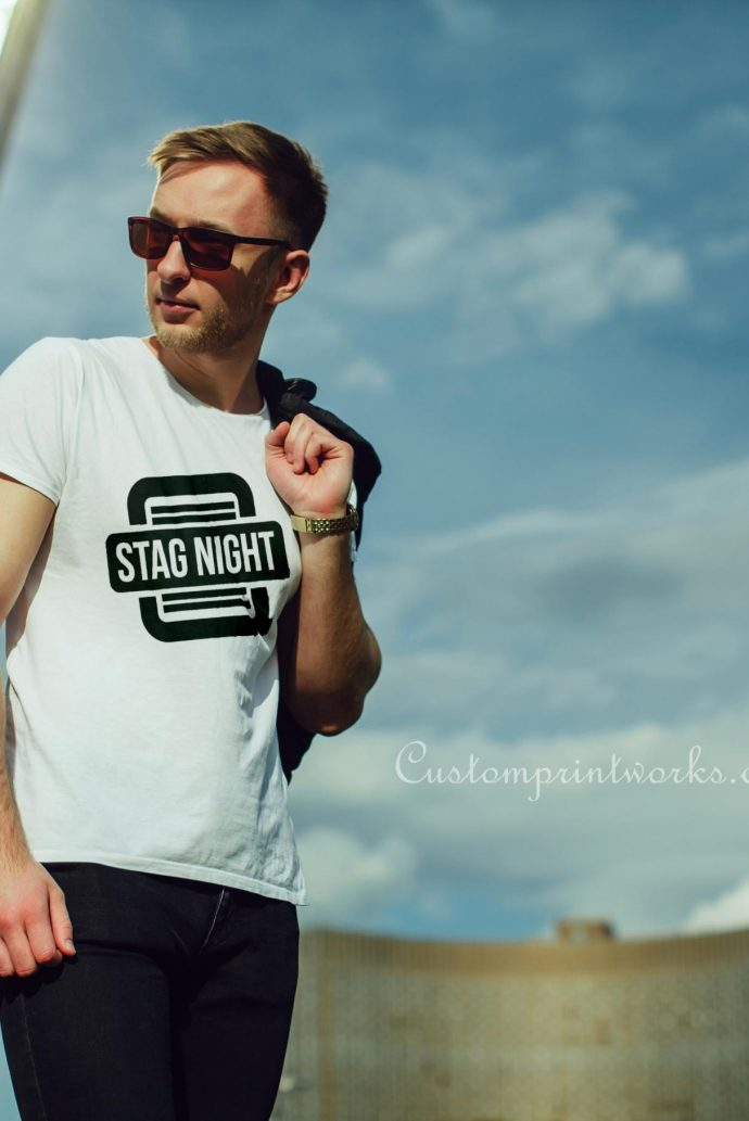 stag night logo t-shirt