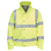 hi Visibility bomber jacket in yellow